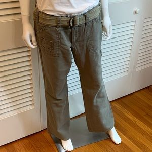 Old Navy Army Green Bootcut Cargo Chinos w/Belt